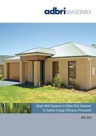 Energy Efficient Brochure – Block Wall Systems to Meet BCA