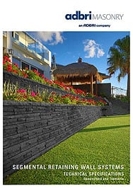 Segmental Retaining Wall Systems NSW,NQLD,SQLD,TAS – Anchor Wall Technical Brochure