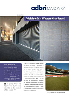 Adelaide Oval Western Grandstand Case Study